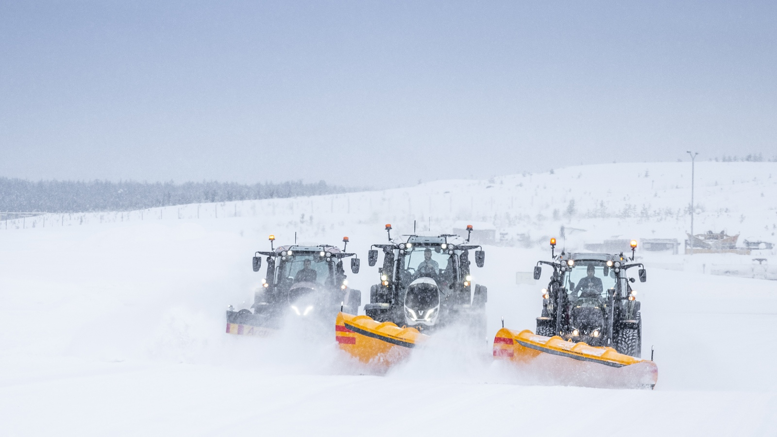 Valtra tractors full model range 5th generation fleet in the field Italy 2021