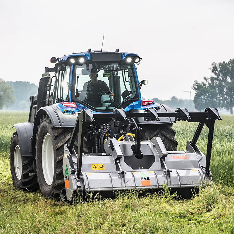 Valtra twintrac in action on field
